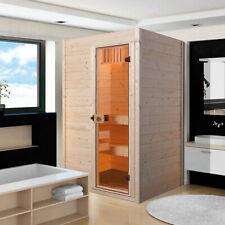 weka Sauna Valida 1 Innensauna Massivholz 38 mm Glastür ohne Ofen natur Holz