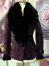 Luxus Designer Lammfelljacke mit echtem Fuchspelz Gr.34,36,38,42,44 NEU