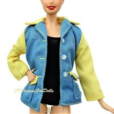 Fashion Blue and Yellow Jacket Barbie Loves Frank Sinatra New
