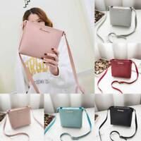 Women Leather Candy Color Shoulder Bag Tote Purse Handbag Messenger -