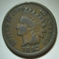 1892 Indian Head Cent in Average Circulated Condition    DUTCH AUCTION