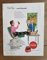 1954 Coca Cola see Eddie Fisher Coke Time NBC TV newspaper and Friends ad