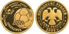 50 Rubles Russia 1/4 oz Gold 2002 FIFA Football World Cup in Korea Japan Proof