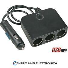 SPINOTTO PER PRESE ACCENDISIGARI 12//24 V CON 1 USCITA USB COD 39041