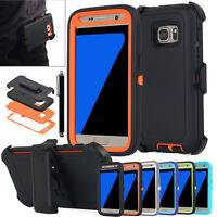 Samsung Galaxy S7 Edge Shockproof Heavy Duty Hard Case Cover & Belt Clip Holster