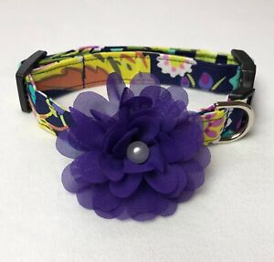 Out For Fun Floral Dog Collar Size XS-L by Doogie Couture
