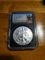 2019 (W) SILVER EAGLE $1 Early Releases NGC MS 70 PERFECT STRUCK WEST POINT MINT