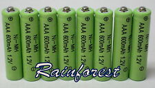 8 pcs AAA Rechargeable Batteries Ni-MH 600mAh 1.2v for Garden Solar light