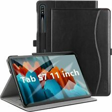 ZtotopCase Custodia per Samsung Galaxy Tab S7,Custodia in Pelle,con Nero