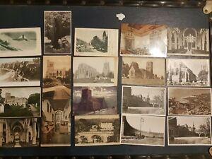 Album Job Lot of 60x Vintage Antique Postcards Lake District, Wales, Bath UK