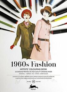 1960 Fashion: Artists' Colouring Book (Multilingual Edition) by Pepin Press The