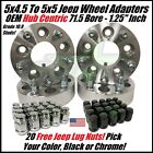 4 WHEEL ADAPTERS 5X4.5 TO 5X5 1.25"