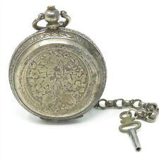 NYJEWEL ATQ 800 Silver AST Medjidie Constantinople Turkish Pocket Watch 114.1g