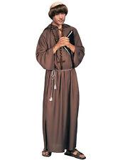 Biblical Monk Robe Medieval Robin Hood Friar Tuck Priest Religious Mens Costume