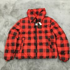 New Juicy Couture Black Label Plaid Puffer Jacket Womens Large JC-009 MSRP $228