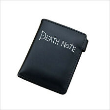 Anime Death Note Cool Black PU Short Wallet/Purse with Button