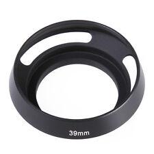 Metal 39mm Curved Vented Lens Hood for Leica Screw Mount DSLR Camera Lens Black