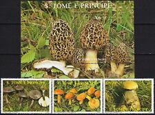 Sao Tome & Principe Set & S/S Mushrooms 1987 MNH-13 Euro