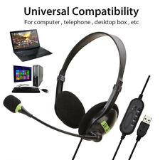 Gaming Headset Kopfhörer Telefon Stereo Computer PC Laptop Headphone mit Mikrofo