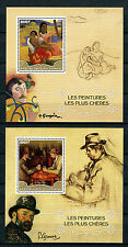 Congo 2016 MNH Paintings Paul Gauguin & Paul Cezanne 2x 1v S/S Art Stamps