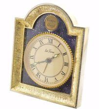 Vintage Seth Thomas Tempus Fugit Boudoir Alarm Clock Blue Lapis
