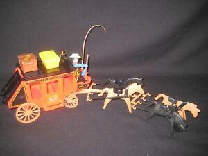 älteres Playmobil /Western / Postkutsche / mit Cowboy