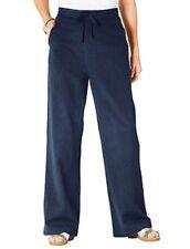 Amalina Elasticated Cotton Trousers Size 14 L27 rrp £24 DH078 KK 26
