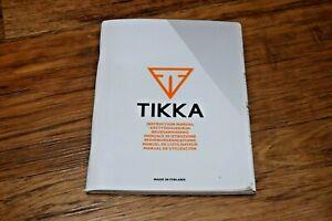 SAKO TIKKA Rifle Gun Owners Instruction Manual Guide Shooting UK SELLER