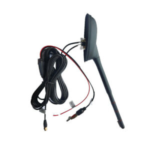 5m Car Roof GPS Navigation Amplifier Antenna Radio FM AM Decorate Din Plug Black