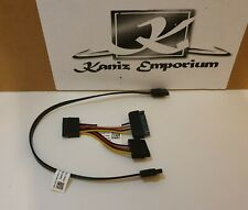 SATA 15-pin Y-Splitter Cable & SATA Data Cable Motherboard to Drive Data Lead X2