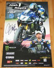 2015 Josh Hayes signed Graves Monster Yamaha YZF-R1 Superbike MotoAmerica poster