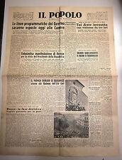 IL POPOLO # Quotidiano - Anno V - N.127 # Martedì 1Giugno 1948  Roma