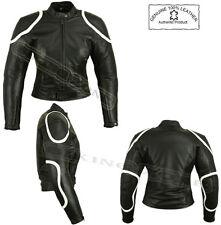 Señoras NEGRAS DE Horizon Para Mujer Moto / motorcycle/fashion Chaqueta De Cuero / Suit