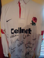 England Squad Signed World Cup 1999 Rugby Union Home Shirt  COA