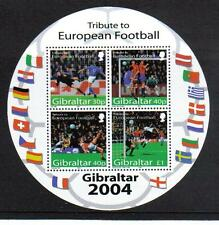 Gibraltar 2004 European Soccer ss--Attractive Sports Topical (974a) MNH