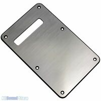 BRUSHED ALUMINUM Face Back Plate Tremolo Cover for Fender Stratocaster Strat®
