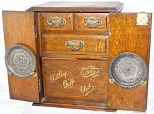 ATQ 1920 GATLEY GOLF CLUB COURSE TROPHY ENGLISH OAK PIPE TOBACCO SMOKING CABINET