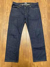 APC MADRAS Straight Leg Denim Dark Wash Jeans 34 x 28