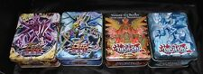 4 YU-Gi-Oh! Collectible Tin box Tins Boxes only no cards 2- 2010,2012,2013