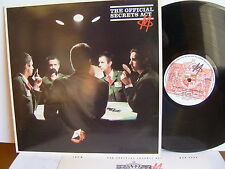 M - The Official Secrets Act  MAPS 9792  UK LP  1st Press 1980 MCA + Insert