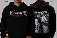 MEGADETH -Dystopia- Thrash metal- ANTHRAX- SLAYER, Hoodie-sizes:S to XXL