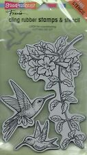 """""""Hummingbirds"""" Cling Rubber Stamp Set by Stampendous"""