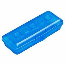 """Sterilite (R) Mini Pencil Box with Splash Tint Lid & Base - 8-3/8"""" L x 3-5/8"""" W"""