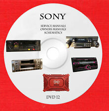 Sony audio video service schematics and owners manuals on dvd 12 of 18