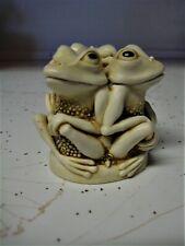 New ListingHarmony Kingdom Tongue And Cheek Frogs Uk Made Marble Resin Trinket Box Figurine