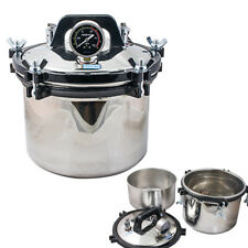 USA Sale 8L Portable Steam Pressure Autoclave Sterilizer Dental Lab Equipment