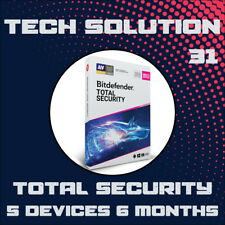 BitDefender Total Security 2020 5 Devices 6 Months + Free Gift