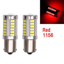 LED Car 2x Red Bulbs BA15S P21W 1156 Backup Reverse Light 33-SMD 5630 5730 12V
