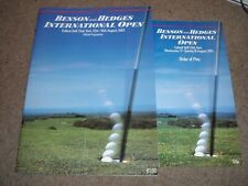 OFFICIAL PROGRAMME BENSON & HEDGES INTERNATIONAL GOLF OPEN @ FULFORD YORK 1987