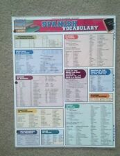 Spanish Vocabulary (2 Panel) Bts by Inc. BarCharts (2005, Print, Other)